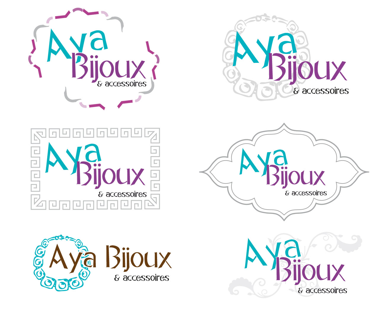 logo aya bijoux creapixel62 cr ation de sites internet flyers agence web arras. Black Bedroom Furniture Sets. Home Design Ideas