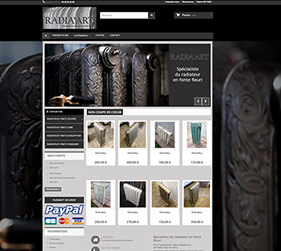 Création site Ecommerce Radiaart