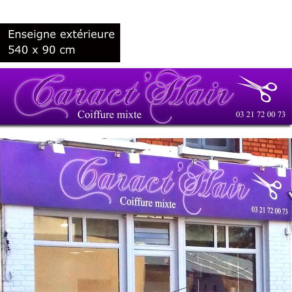 Enseignes et panneaux publicitaires creapixel62 - Panneau publicitaire salon de coiffure ...