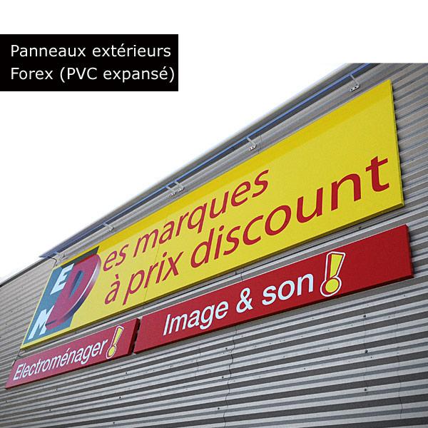 Panneau publicitaire pvc exterieur