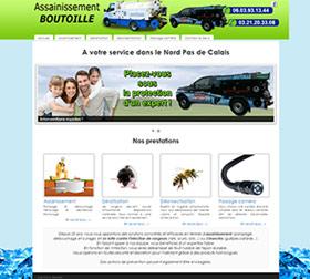 Création site internet assainissement Boutoille