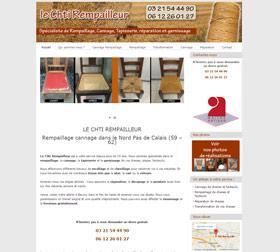 Création du site internet rempailleur chaises