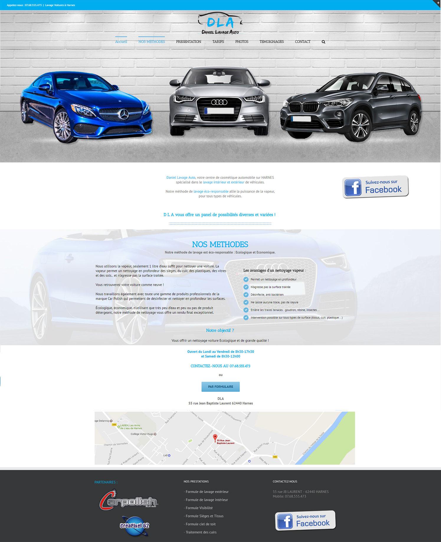 création de site internet lavage de voitures à Harnes