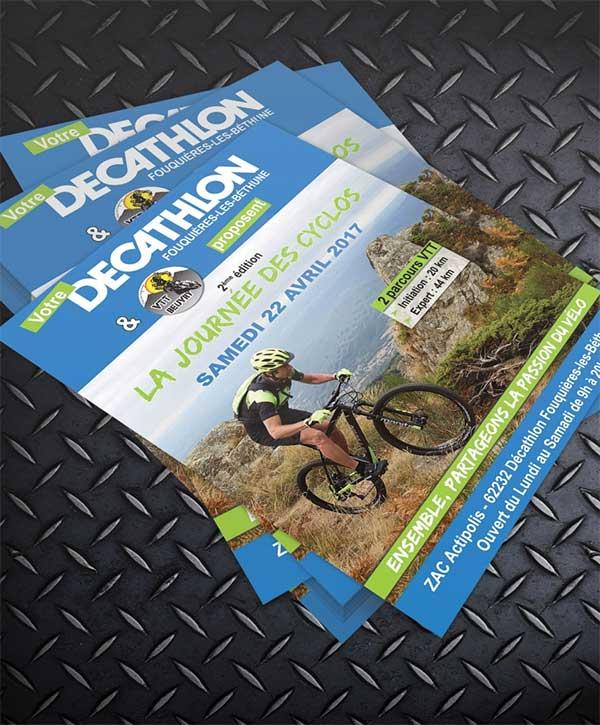 Création de flyer pour Décathlon - Agence de communication Décathlon