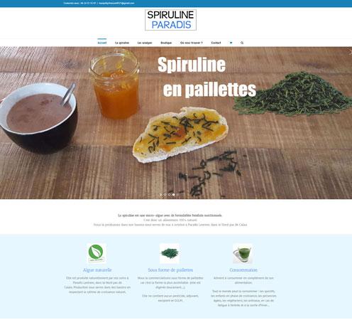 site boutique de spiruline www.spirulineparadis.fr