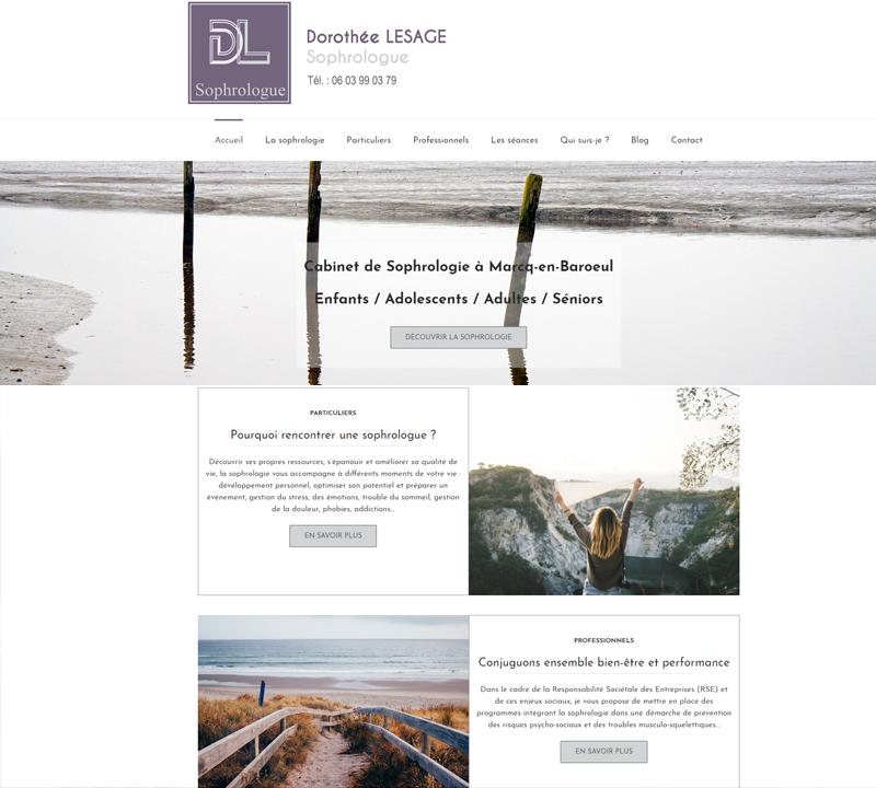 Création site web pour sophrologue Nord pas de Calais