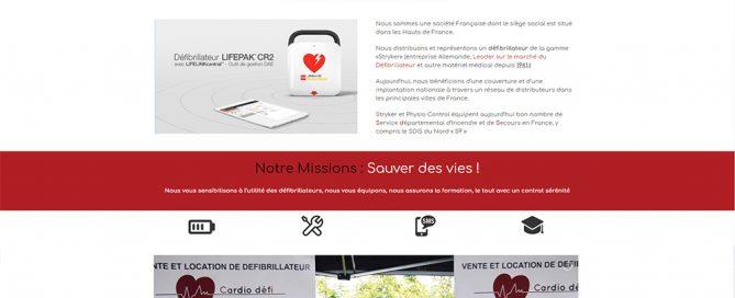 Création de site web pour location de défibrillateur à Annequin