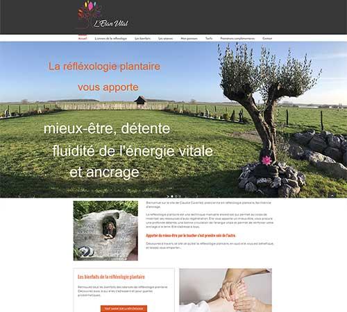 Création de site web de Réflexologie plantaire à Arras