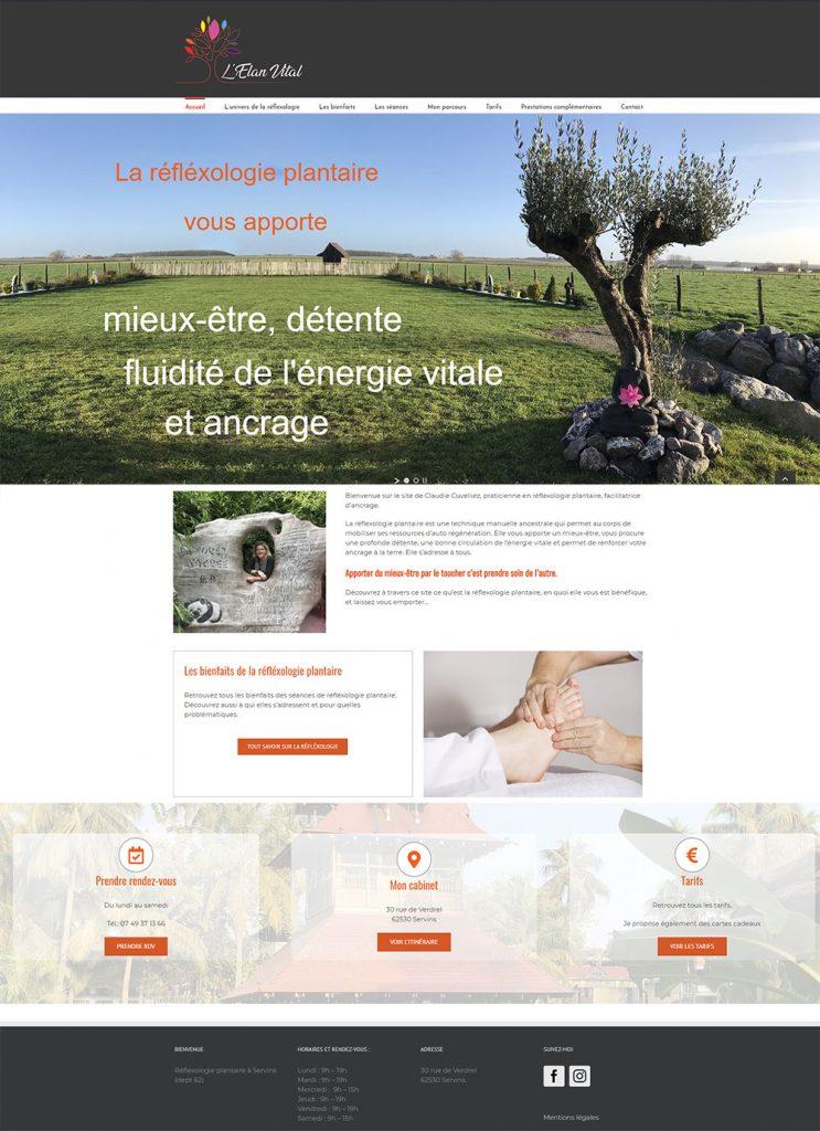 Création de site internet pour Réflexologie plantaire à Arras